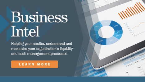 Business Intel: Helping you monitor, understand and maximize your organization's liquidity and cash management process